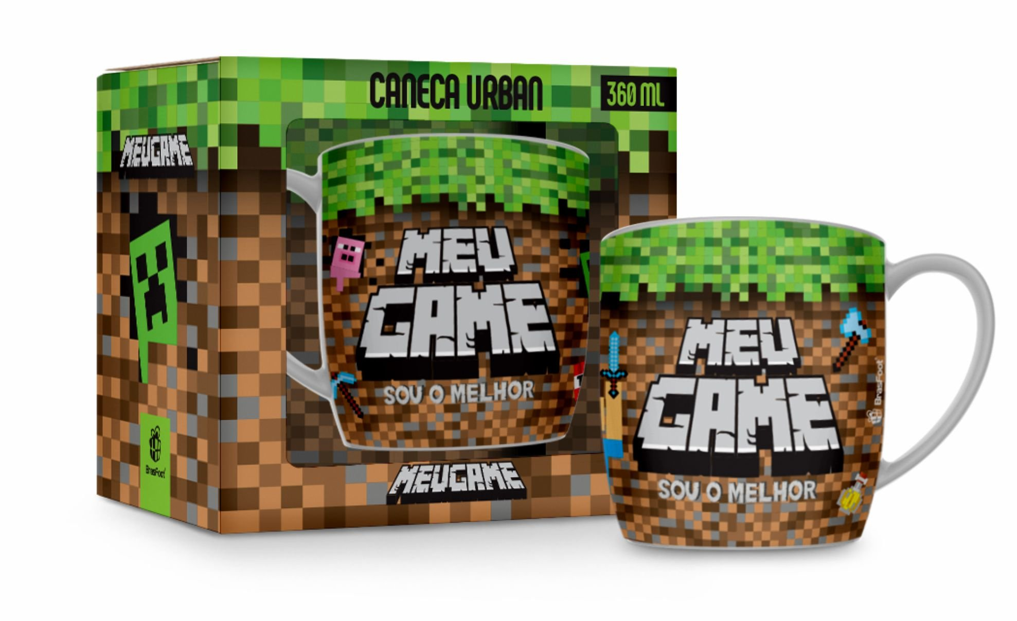 CANECA PORCELANA URBAN 360ML - MEU GAME MINE