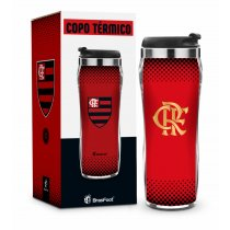COPO PLÁST. INOX TIMES NEW - FLAMENGO SERIE OURO