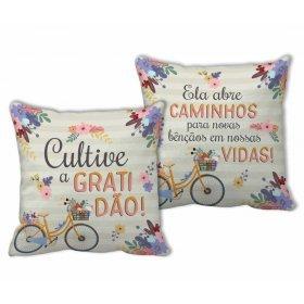 ALMOFADA QUADRADA - CULTIVE GRATIDÃO